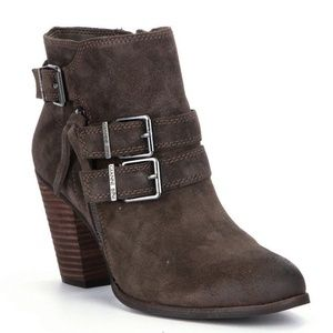 Gianni Bini Westonn Leather Buckle Booties 7